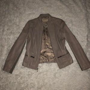 NWT Michael Kors Genuine Leather Jacket